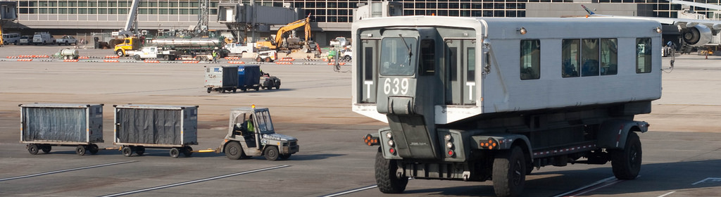 The Mobile Lounges at Dulles International Airport